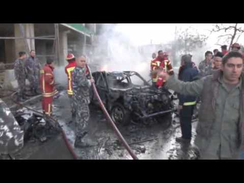 Raw: Beirut Car Bomb Kills Politician, Others
