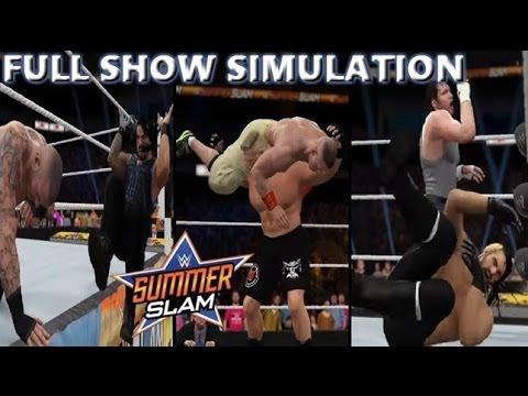WWE 2K16 SIMULATION: SUMMERSLAM 2014 FULL SHOW HIGHLIGHTS