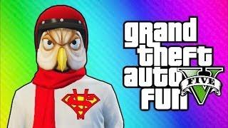 GTA 5 Online Funny Moments Helmet Glitch, Superman Truck