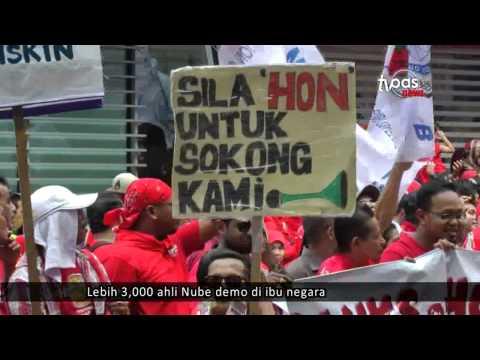 Lebih 3,000 ahli Nube demo di ibu negara