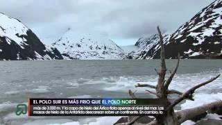 El Polo Sur es más frío que el Polo Norte