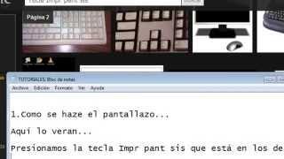 Como Hacer Un Pantallazo [Windows XP, 7 & Vista]