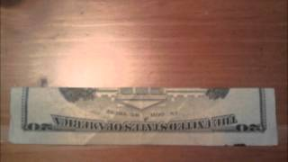 How To Fold A 20$ U.S Bill To Show The Twin Towers Burning