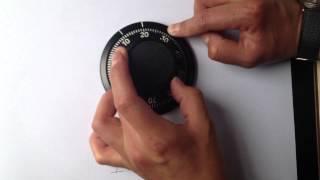 Como abrir caja fuerte cerradura manual