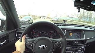 2017 Kia Optima 2.4 AT GT-line POV Test Drive. MegaRetr