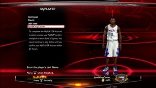NBA 2K13 How To Create Your MyPLAYER Account Choose