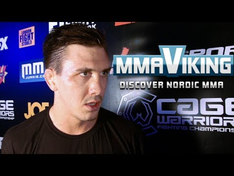 Håkon Foss Cage Warriors 66 Post Night Interview
