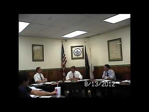 Champlain Village Board Meeting 8-13-12