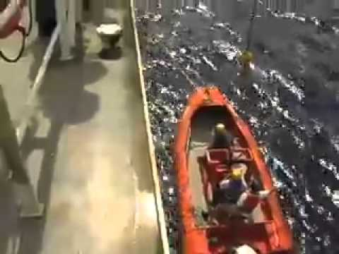 Cal Maritime Training Ship Golden Bear's Fast Rescue Boat