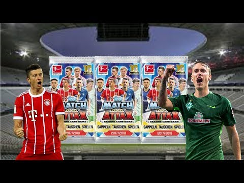 Fifa 18 Ultimate Team Pack and Play/ 3x Match Attax Booster Opening Bundesliga 17/18 [Free Codes]