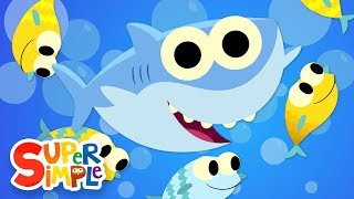 Baby Shark | Featuring Finny The Shark | Super Simple Songs