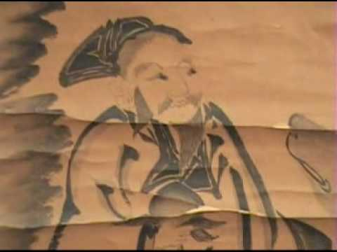 Antique Japanese Scroll - Sumi-e Calligraphy Suibokuga