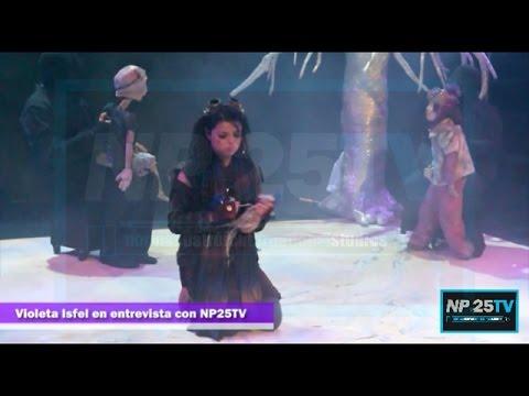 Violeta Isfel protagonista de Asimov platica con NP25TV 2014