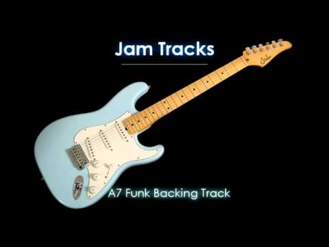 Mixolydian Funk Backing Track (A7)