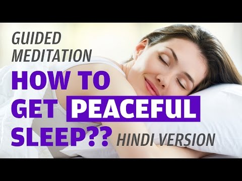 Guided Meditation for Peaceful Deep Sleep | Music, Relaxing Music | Hindi