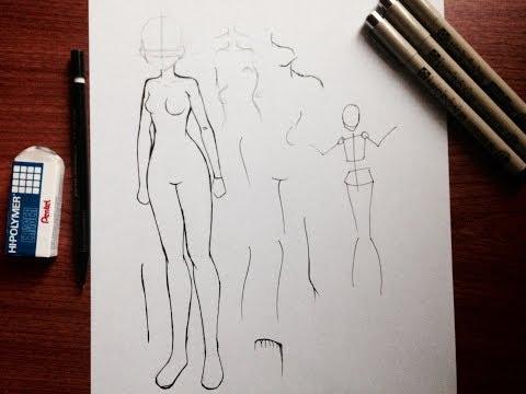 Manga tutorial: Maintaining Body Proportions [Female]