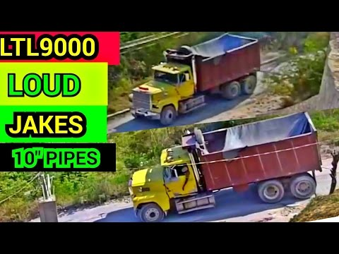 LOUD JAKE BRAKE BY A FORD L9000 WITH 10