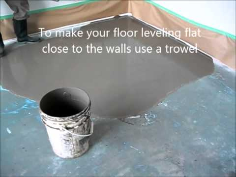 Self Leveling Floor Compound How To Prepare And Put Youtube