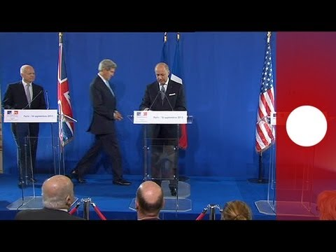 Syria talks: France, UK, US news conference in Paris (recorded live feed)