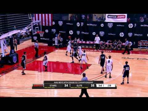 2012 AAU Boys Basketball 8th DII Final: Stars Elite vs Brevard Elite BP