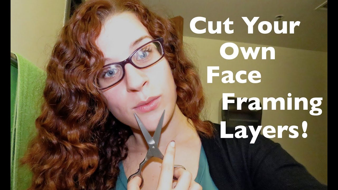 Cutting Curly Side Bangs / Face Framing Layers Yourself ...