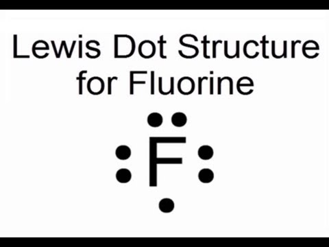 Lewis Dot Structure For Fluorine Atom  F