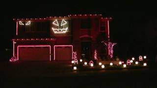 Halloween Light Show 2010 HD Thriller ( Michael Jackson
