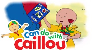 Caillou Can Make A Get Well Card!