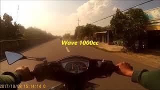 Bặt gặp wave A chỡ 2 vượt mặt spark 140km/h