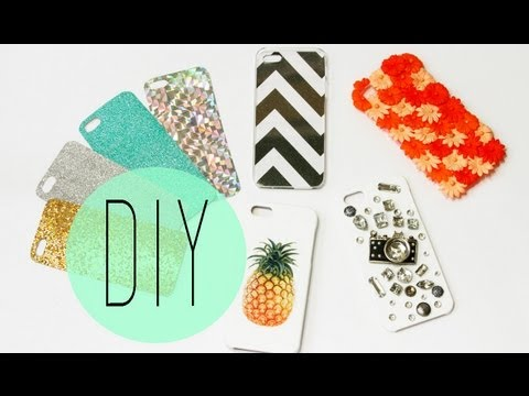 DIY Cell Phone Case - How To Make Cute Iphone 5S Designs by ANNEORSHINE