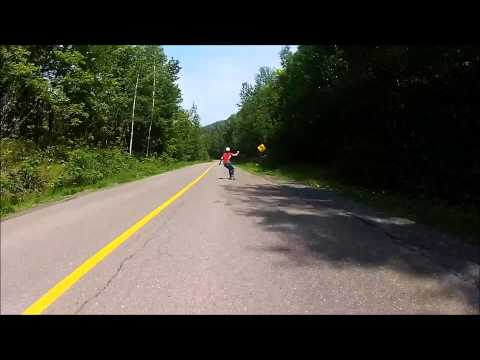 Downhill Skateboarding in Quebec, Canada