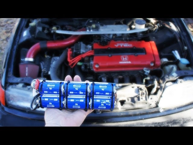 12V BoostPack Starts Freezing Cold Engine - Capacitors Replacing Car Batteries