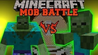 MUTANT ZOMBIE VS. GIANT ZOMBIE Minecraft Mob Battles