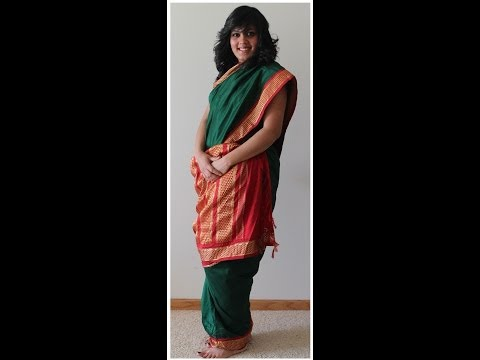 Tamil Iyengar - Nine Yard/ Madisar -- How to drape a 9 Yard saree