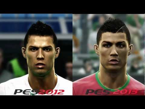 PES 2012 V PES 2013 Faces Comparison [HD]