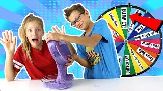 Mystery Wheel of DUMP IT Slime Challenge!!!