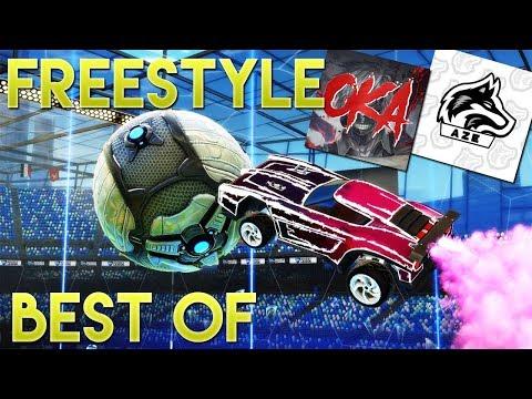 BEST OF FREESTYLE AVEC AZE ET OKAMI #4 ( Freestyle Goals, Funny Moments, Fails)   ROCKET LEAGUE [FR]