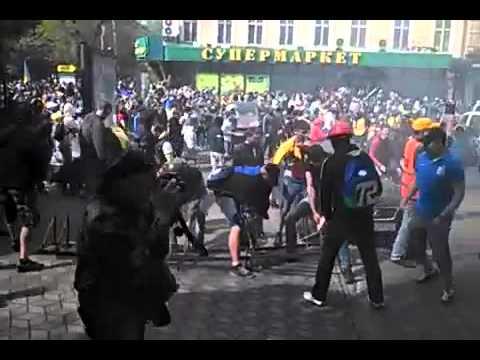 Odessa, Ukraine: Ausschreitungen zw. Ukrainern und ethn. Russen 02.05.2014