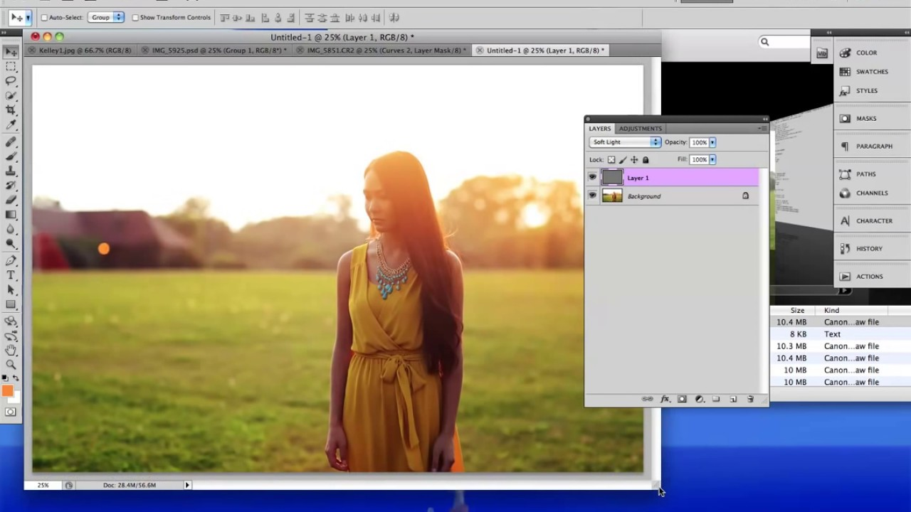 how to add sunlight in photoshop
