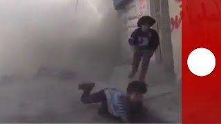 Riport közben bomba robbant