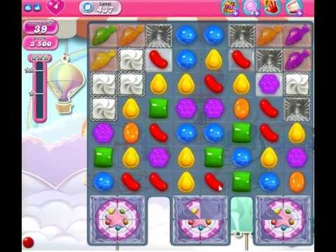 Candy Crush Saga Level 437 - No Booster 3 Stars See Tips!