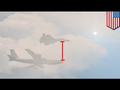 Russian jet Su-27 cuts within 100 feet of U.S. Air Force RC-135 in a dangeous fly-by