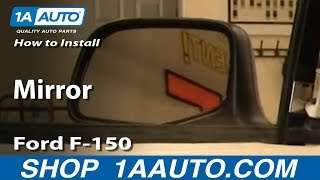 How To Install Replace Side Rear View Manual Mirror Ford F