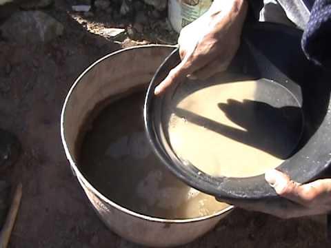 AZ desert gold panning out of your crushed rock