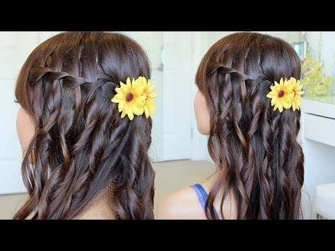 ♥ DIY: Boho Waterfall Braid Hairstyle & Conair Curl Secret GIVEAWAY