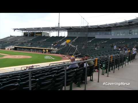 Covering Mesa: A's Grand Opening at Hohokam Stadium