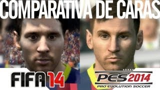FIFA 14 VS. PES 2014 Comparativa De Caras