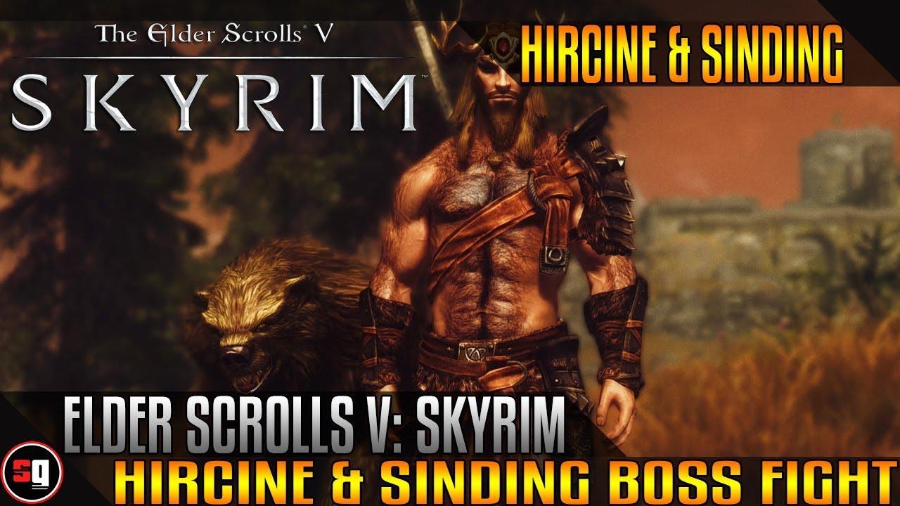 Elder Scrolls V Skyrim Hircine Sinding Boss Fight