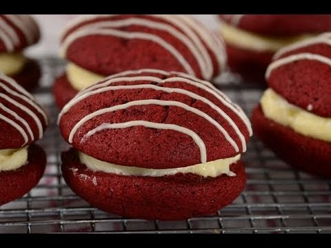 Red Velvet Whoopie Pies Recipe Demonstration - Joyofbaking.com