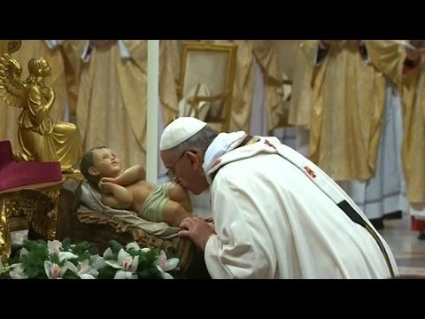 Pope Francis celebrates first Christmas Eve mass